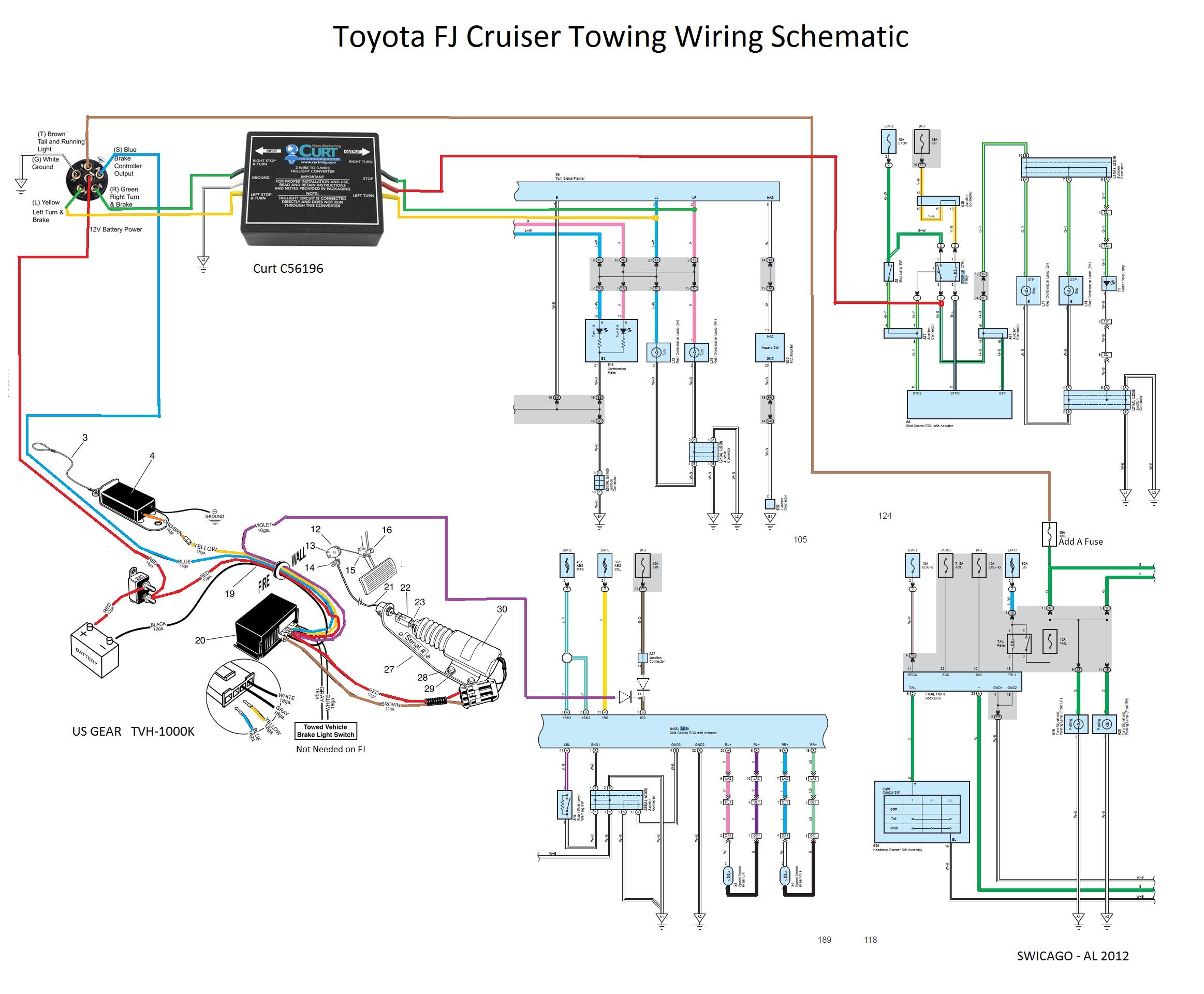 Fj Cruiser Wiring Diagram Another Blog About Toyota Land Diagrams Flat Tow 6mt Yes It Can Be Done Forum Rh Fjcruiserforums Com Stereo 2007 Radio